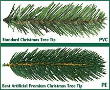 Best Artificial Slim Premium 7ft 210cm Hinged Christmas Tree Indoor 100% PE Tips