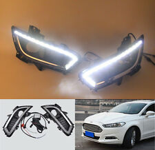 2x FOR Ford Mondeo Fusion 2013 2014 Led daytime running light fog lamp cover DRL