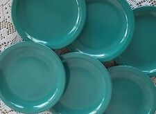 Set of 6 Texas Ware #138 Green Teal Melamine Salad Dessert Side Plates