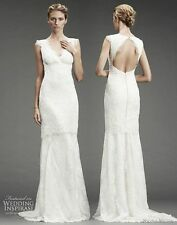 NICOLE MILLER BEADED LACE GOWN BRIDAL WEDDING DRESS Size 6 NM9978 $2995