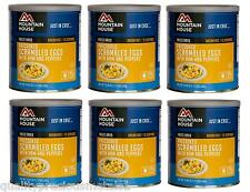 6 Cans - Scrambled Eggs with Ham - Mountain House Freeze Dried Emergency Food
