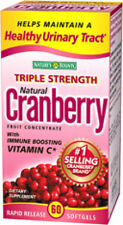 60 Cranberry Fruit 25200 mg with Vitamin C Nature's Bounty Health Supplement NEW