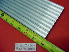 "10 Pieces 3/8"" ALUMINUM 6061 ROUND ROD 18"" long T6511 .375 Solid Lathe Bar Stock"