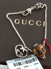 Gucci Bamboo Heart Silver Bracelet  Made In Italy