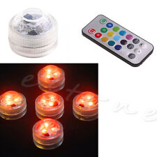 Waterproof Luminous Circular Candle Lights LED With Battery Remote Diving New