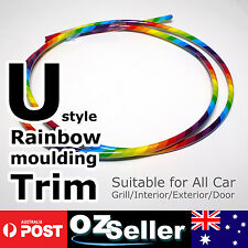 3Meter Rainbow Moulding Trim Strip Car Truck Door Edge Interior Guard Decoration