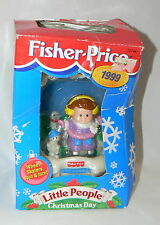 """FISHER PRICE LITTLE PEOPLE """"CHRISTMAS DAY"""" KEEPSAKE ORNAMENT - 1999"""