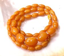 Antik Bakelit Oliven Bernstein Kette,Butterscotch Optik,ART DECO necklace,31 gr