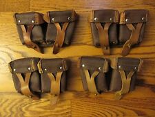 4 ORIGINAL MILITARY SURPLUS MOSIN NAGANT 91/30 M44 LEATHER AMMO GEAR POUCH