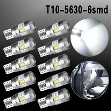 10 x T10 501 194 W5W 5630 LED 6 SMD CANBUS ERROR FREE Car Wedge Light Bulb Lamp