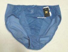 Wacoal Retro Chic Nylon Brief Panties #841186 XL/8 Blue NWT