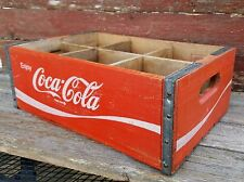 Vintage Coca Cola Wood Crate - Red & White Enjoy Coca-Cola Bottle Crate