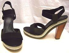 JIL SANDER PLATFORM  ANKLE WRAP HEELS SHOES Sz 36.5/6.5