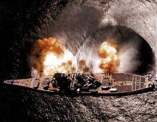 USS Iowa Battleship Firing Guns Art Print POSTER NAVY Poster Print, 19x13