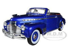 1941 CHEVROLET DELUXE SPECIAL CABRIOLET BLUE 1/24 DIECAST MODEL BY WELLY 22411