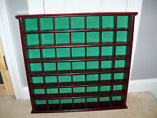 Vintage 49 Golf Ball Display Case Wall Cabinet Holder Rack Wood Hobby Sports