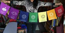 Tibetan buddhism 7 Chakras prayer flags / Lungta
