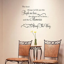 DIY Quote Wall Stickers Word Decal Vinyl Art Home Room Decor Bedroom Removable@