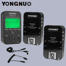 Yongnuo TTL YN622C-TX + 2pcs YN-622C HSS 1/8000 flash trigger for canon