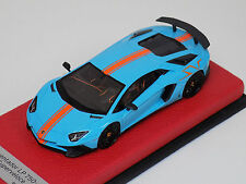 1/43 Looksmart Lamborghini Aventador SV Baby Blue/Orange SV Orange stripeLeather