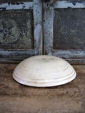 Antique Dough Bowl w Double Rim Buttermilk Milk Paint