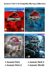 JURASSIC PARK QUADRILOGY Blu Ray PART 1 2 3 4 MOVIE ALL FILMS WORLD Collection