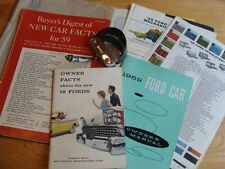 Classic Ford 1959 Owners Manual, Buyers Digest of New Car Facts, Dash Magnifier