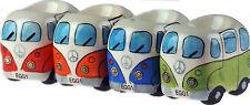 Set Of 4 Retro VW Camper Van Style Novelty Egg Cups
