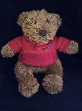 The Childrens Place Brown Teddy Bear Red Fleece Plush Soft Toy Stuffed 8""