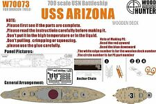 Hunter 1/700 W70073 Wood deck USS Battleship Arizona for Dragon