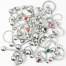 Lot of 40pc Lip, Ear, Nipple, Tongue, Nose Mix Body Jewelry With Jewel