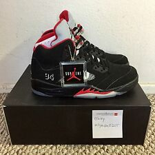 Nike Air Jordan 5 X Supreme Black Size 9 DS WITH RECEIPT Brand New V Retro