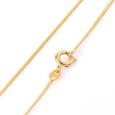 18K Gold Plated Chain Necklaces Thin Fashion Jewelry Vintage Womens