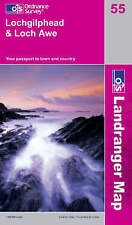 OS Landranger Map 55: Lochgilphead & Loch Awe (9780319231227) NEW