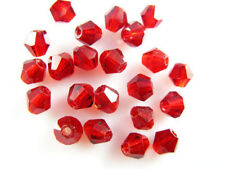 Bulk 200pcs Red Glass Crystal Faceted Bicone Beads 4mm Spacer Jewelry Findings
