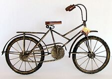 Handcrafted Wrought Iron Decorative Bicycle Vintage Antique Style Moving Parts