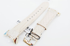 Pandora Imagine Grand C Watch Strap - Cream Leather Band, IPG-Steel Buckle Gold