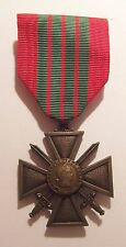 VINTAGE WW II French Croix de Guerre Medal War Cross 1939 1945