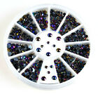 Lot 300 pcs A Wheel 3D Nail Art Tips Crystal Glitter Rhinestone Pearl Decoration