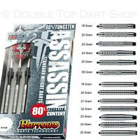 Harrows Assassin 80% Tungsten Steel Tip Darts - 18g to 26g - Knurled or Ringed
