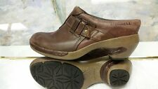 MERRELL BROWN LEATHER SLIP ON CLOG MULE SHOE WOMENS EUR 36 US 6M