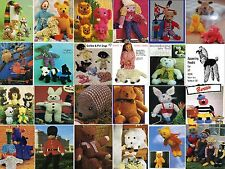 Nearly 400 Toys,Gollies,Dolls clothes,Tea Cosies, & Gift Knitting Patterns on CD