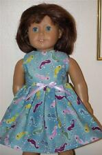 Colorful Sea horses in ocean dress - clothes made for American Girl