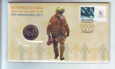 2011 International Year Volunteers 10th Anniversary 20 Cent Coin Stamp Set PNC *