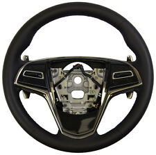 2015 Cadillac ATS Steering Wheel Black Leather W/Paddle Shifters New 23455848
