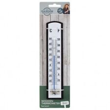 Wooden Garden Thermometer Outside Outdoor Fahrenheit & Celsius Charlie Dimmock