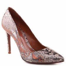 New Schutz Suzanna Natural Snake Skin Leather Pumps Heels Shoes NIB 9 $198