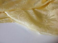 "NEW 100% Silk Satin Crepe De Chine Yellow Sun Flower Jacquard Fabric 55""141cm Ja"