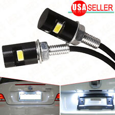 2X White LED SMD Motorcycle & Car License Plate Screw Bolt Light lamp bulb 12V