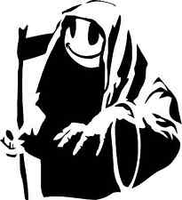 BANKSY REAPER SMILEY STICKER  CAR WINDOW BUMPER SCOOTER STICKER DECAL